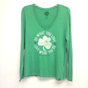 Life is Good Do What You Love, Love What You Do Shamrock Long Sleeve T Shirt